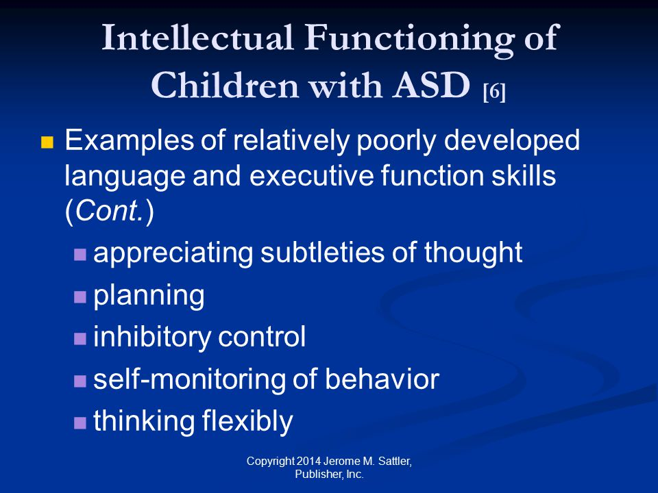 Intellectual Functioning of Children with ASD [6]
